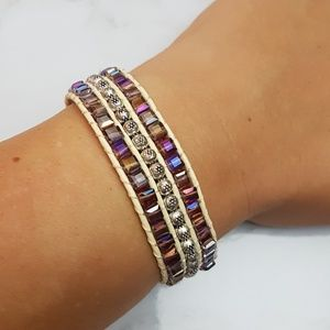 Boho Beaded Wide Strand Bracelet
